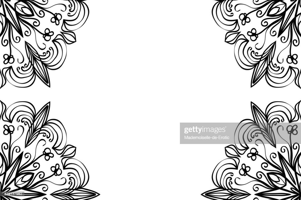 creative invitation card with mandala elements. black and white color. for greeting card, wedding invitation, yoga flyer. vector
