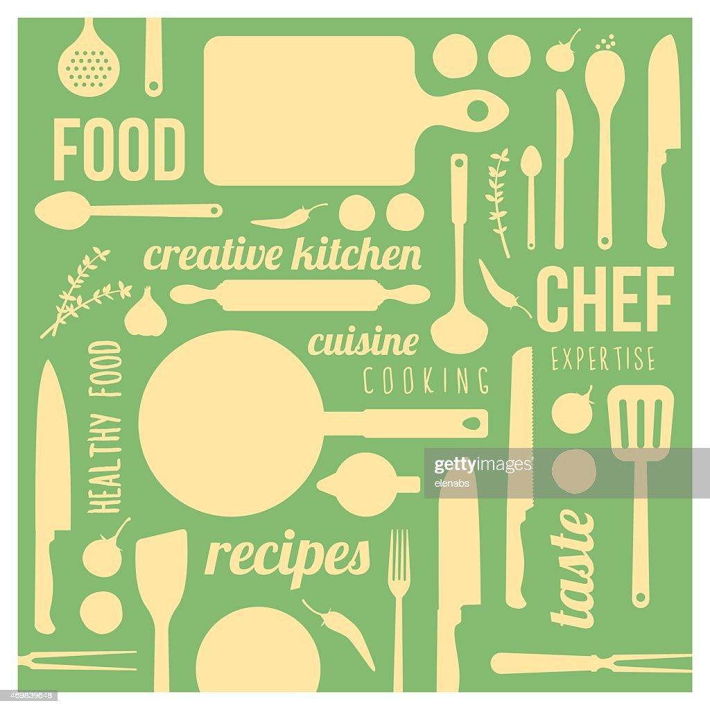 Creative kitchen background