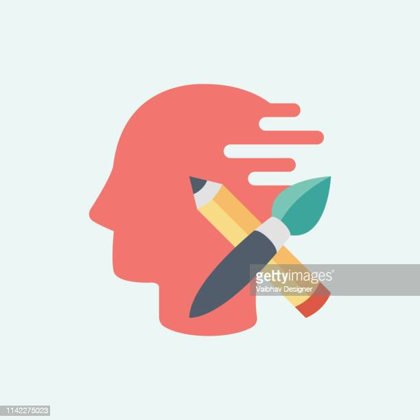 creative learning, creative process - illustration - mental health professional stock illustrations