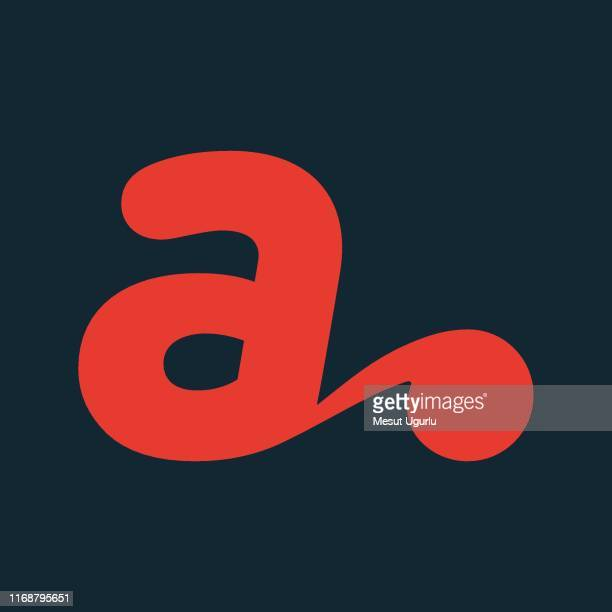 creative letter a emblem - letter a stock illustrations