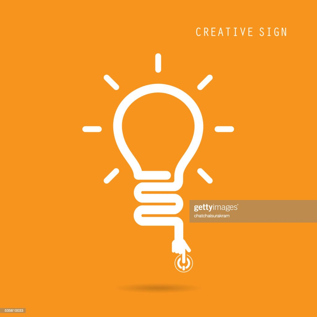 Creative light bulb concept, design for poster flyer cover brochure