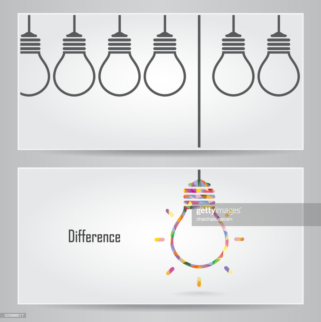 Creative light bulb Idea concept banner background. Differen banner ceconcept