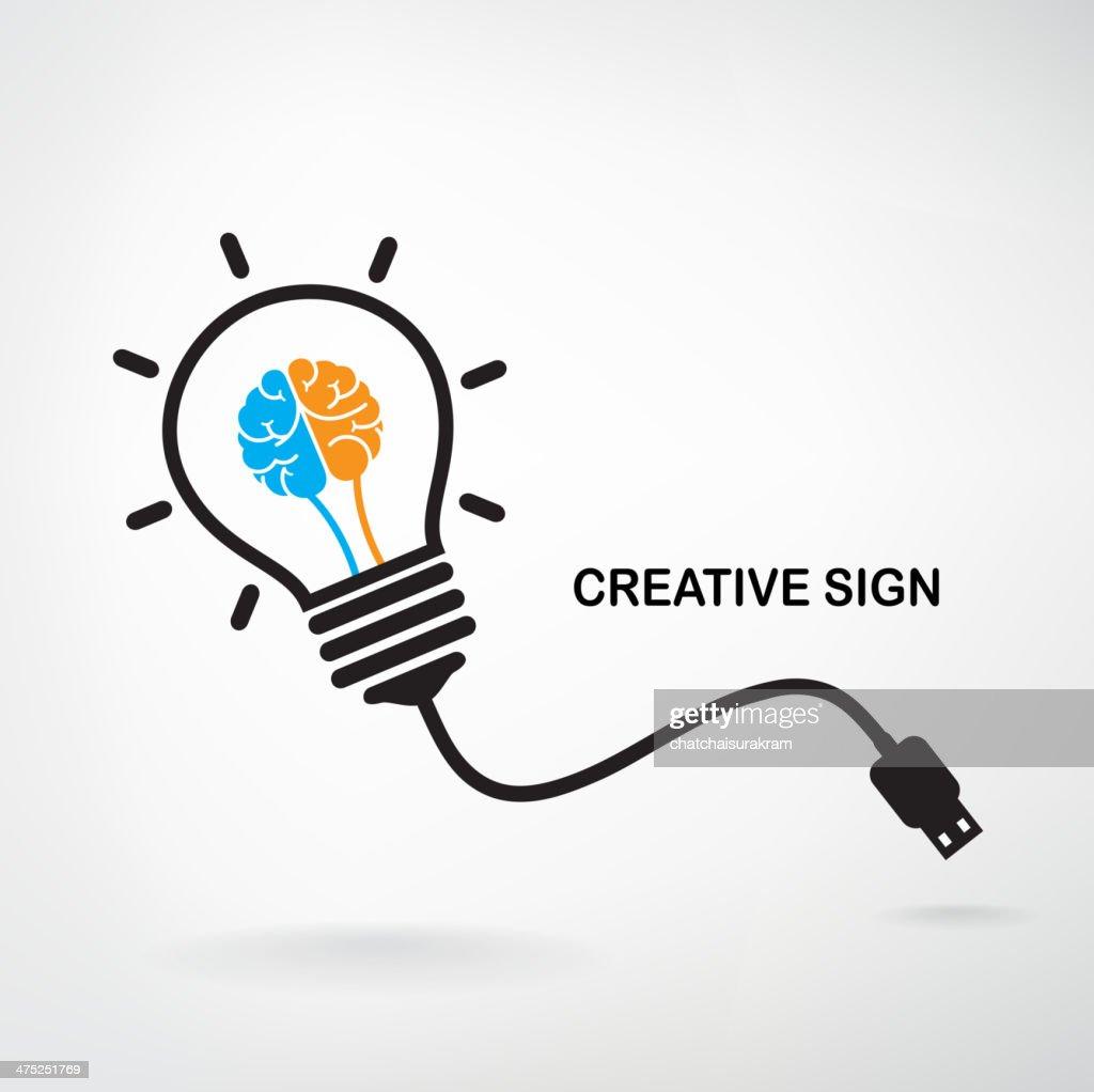 Creative light bulb sign