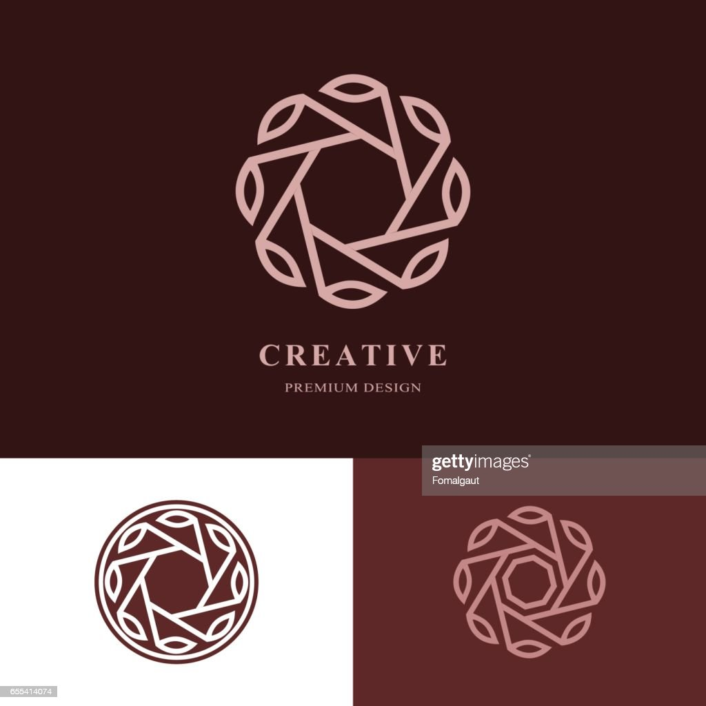 Creative logo design templates. Abstract minimalistic design. Geometric and simple element. Linear monogram. Business Idea emblem. Vector illustration