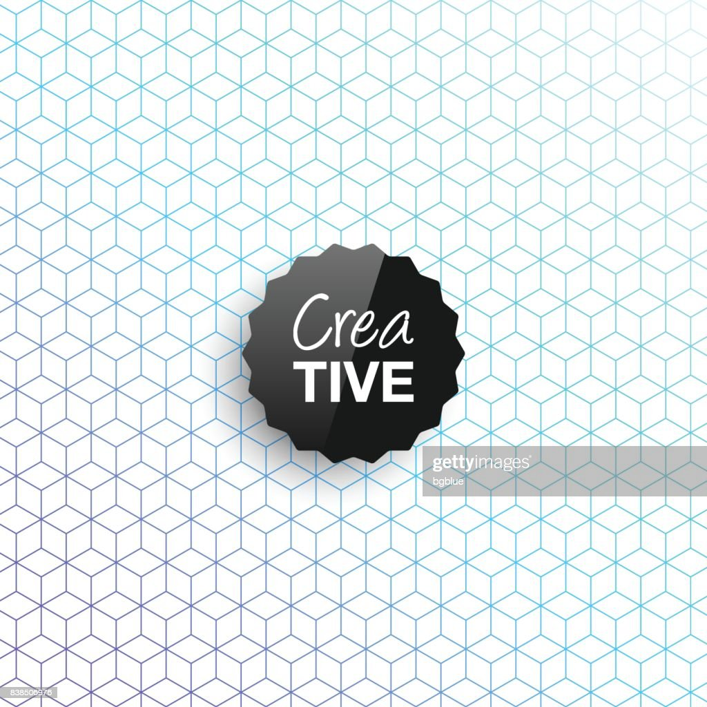 Creative logo template on abstract geometric background