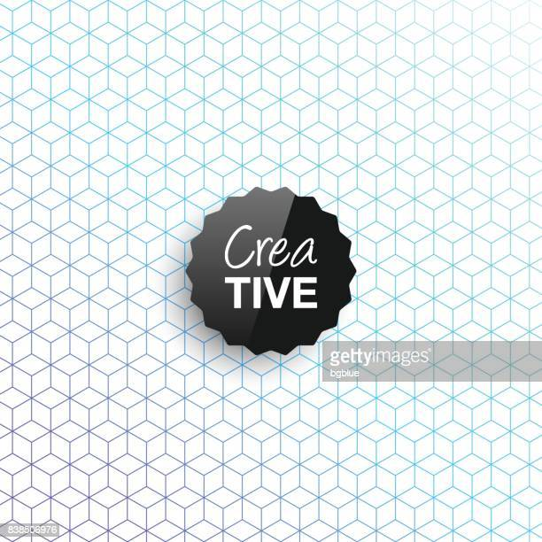 creative logo template on abstract geometric background - square composition stock illustrations, clip art, cartoons, & icons