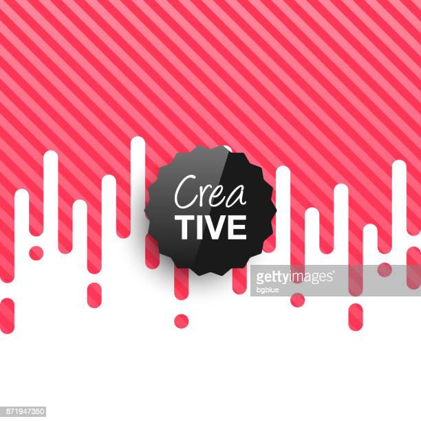 Creative logo template on abstract red background