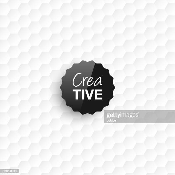 Creative logo template on white abstract background