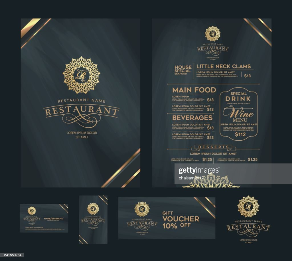 Creative Menu Design Layout Design Design Set For Menu Restaurant High Res Vector Graphic Getty Images