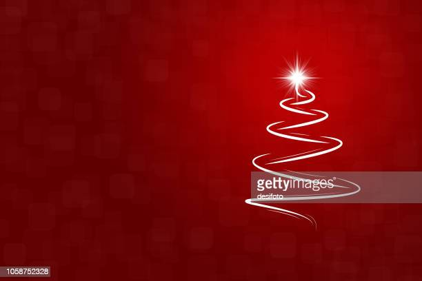 eine kreative frohe weihnachtsbaum design - vektor-illustration - rot stock-grafiken, -clipart, -cartoons und -symbole
