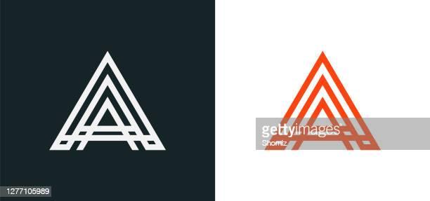 creative modern letter a logo - capital letter stock illustrations