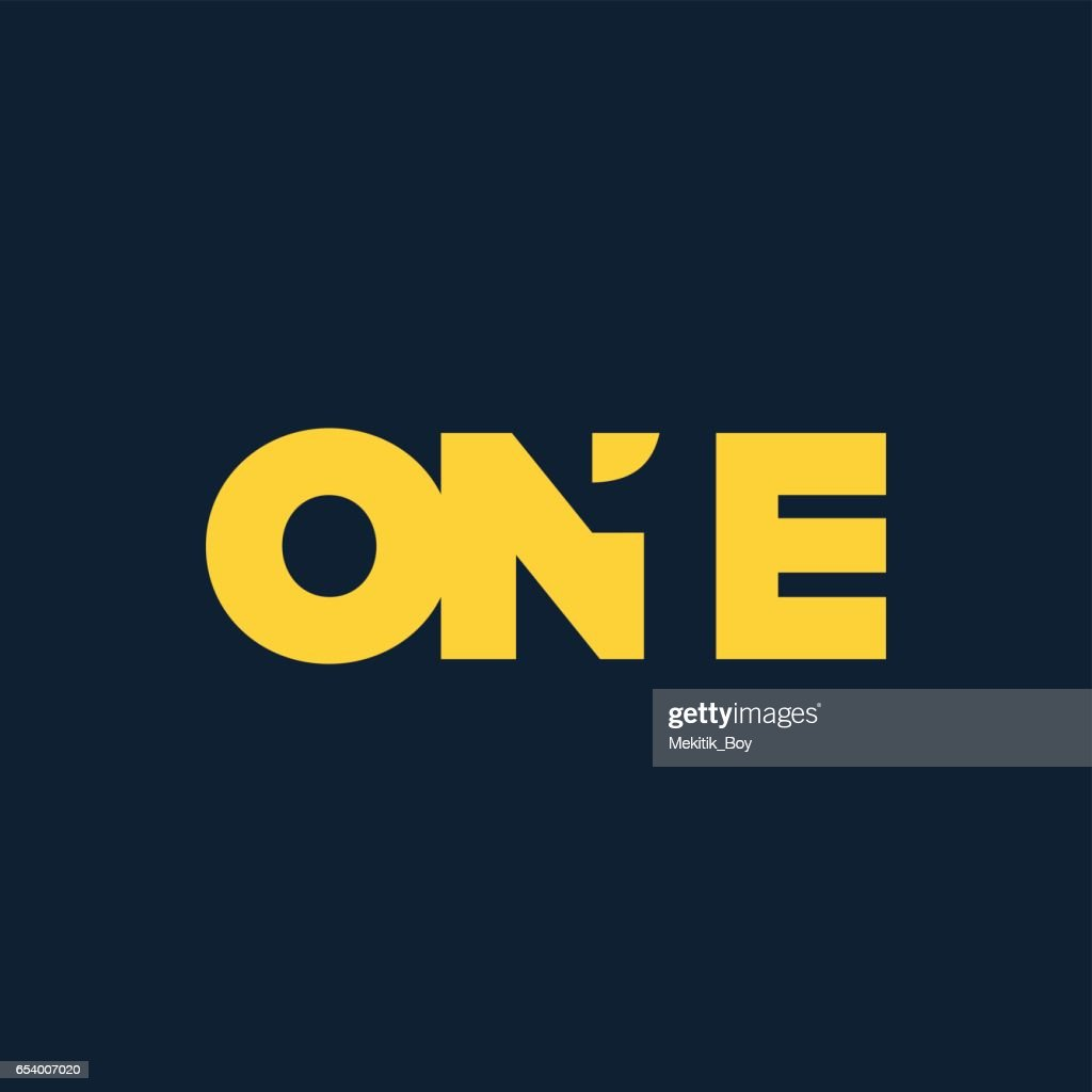 creative number 1 symbol