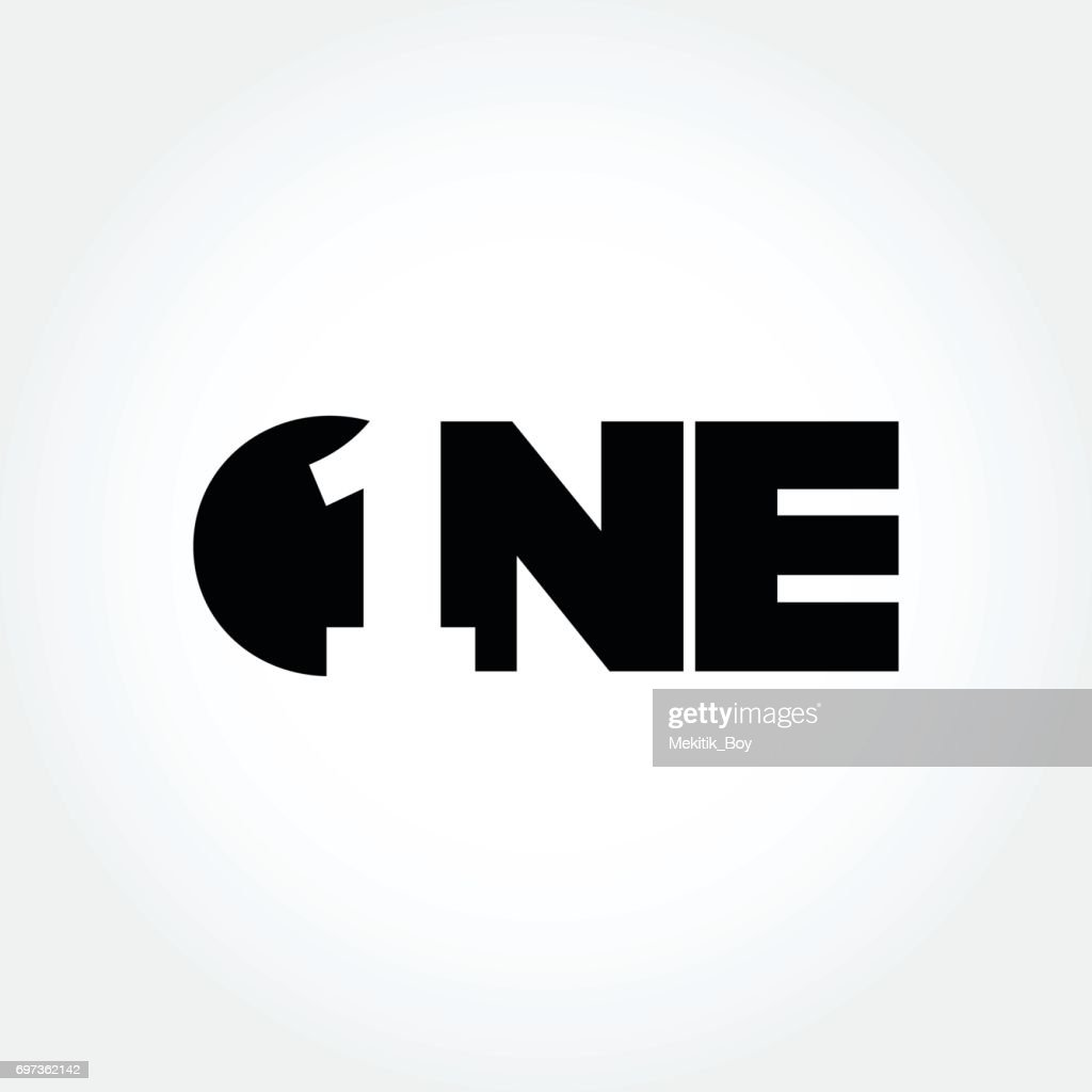 Creative number one design symbol