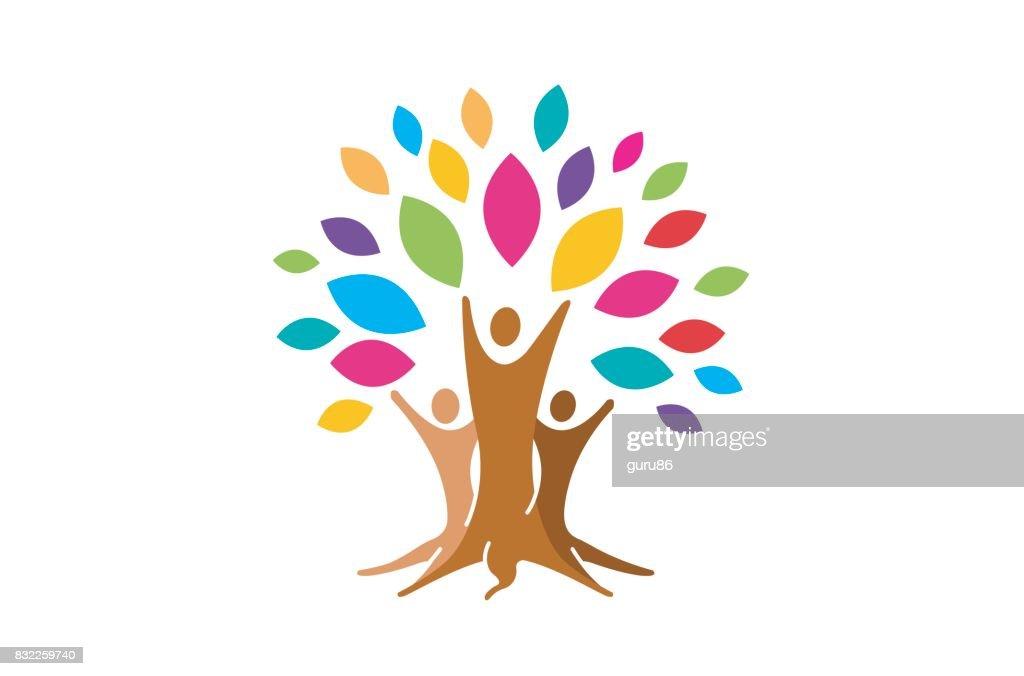 Creative People Family Tree Plant Design Symbol Vector Art Getty