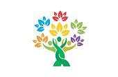 Creative People Family Tree Plant Design Symbol