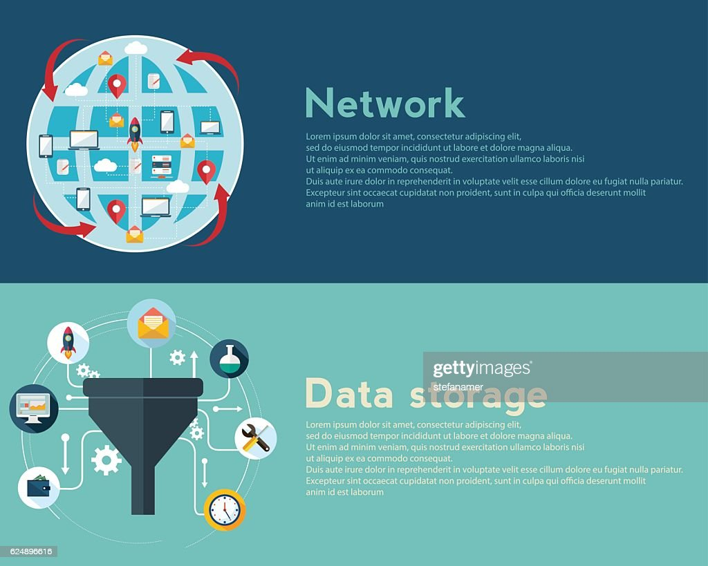 Creative process, big data filter, network, data tunnel, analysis concept