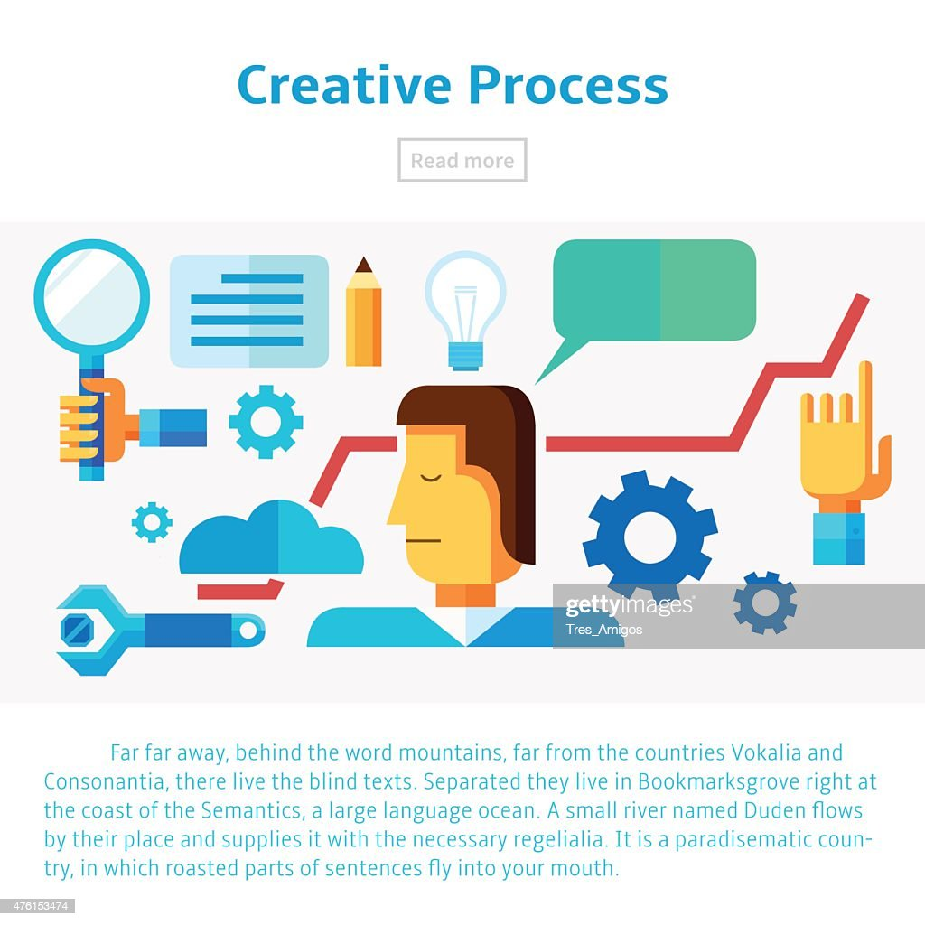 Creative process vector illustration