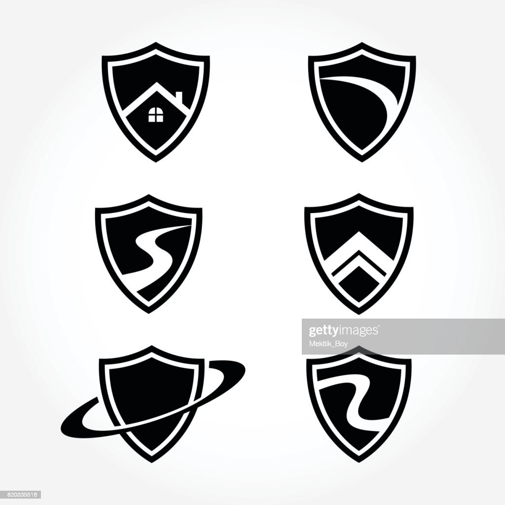 Creative Shield Symbol Design Collections set