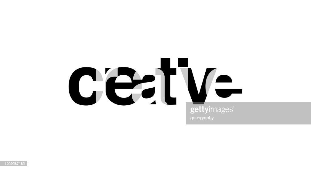 Creative. Slogan for Tshirt typography overlap alphabet text graphic. vector illustration