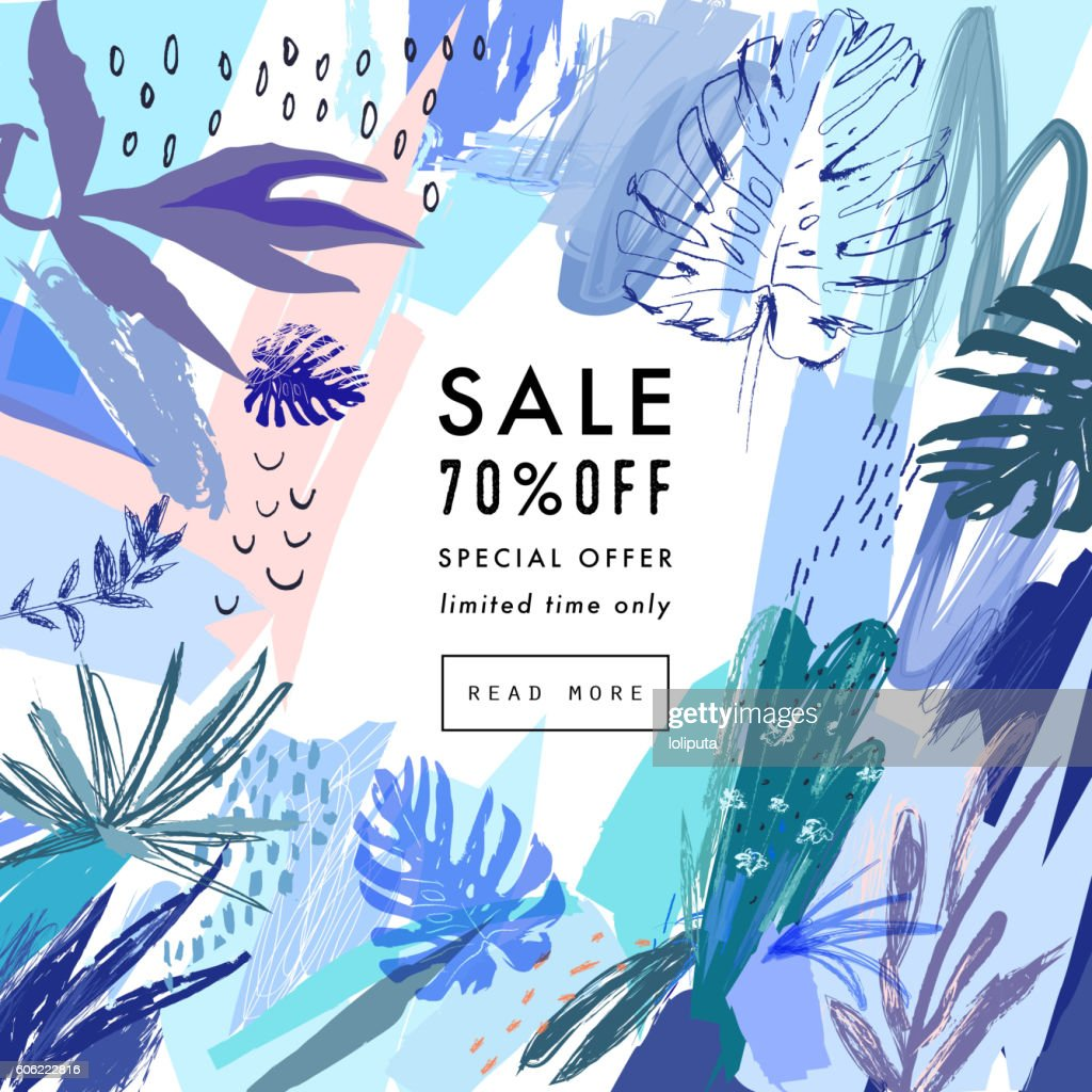 Creative Social Media Sale header or banner with discount offer.