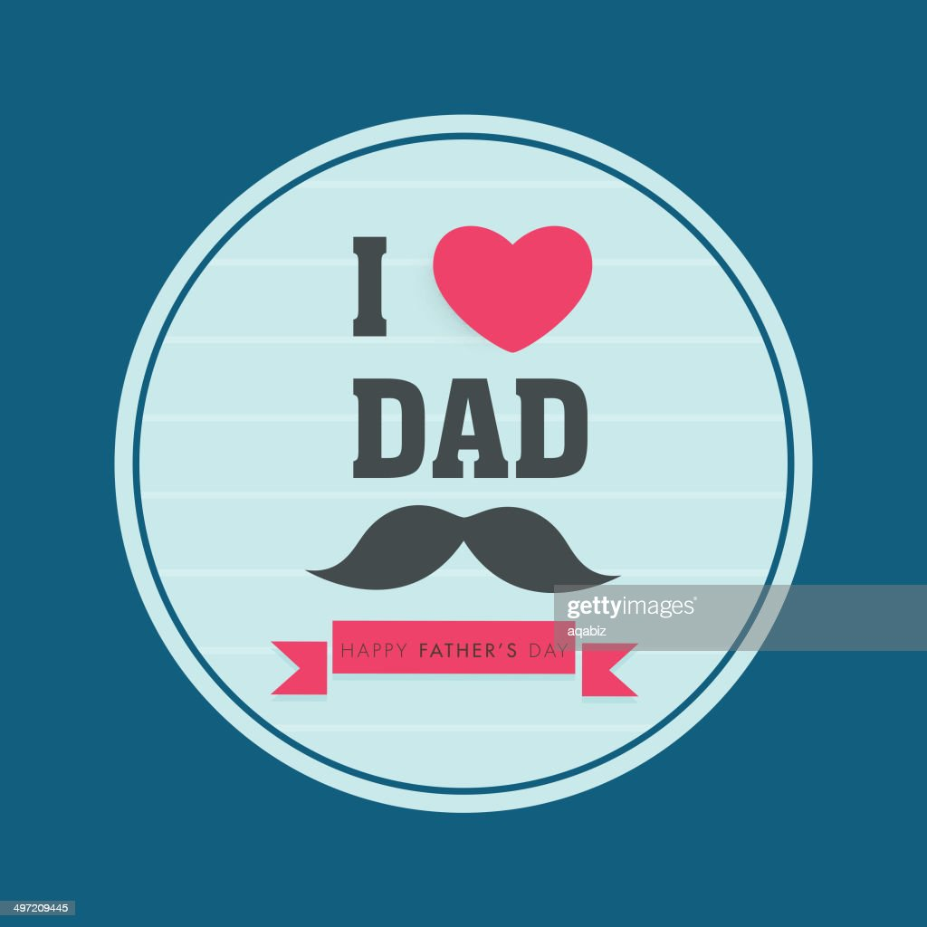 Creative sticky design for Happy Father's Day celebration.