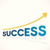 creative success increase graph design