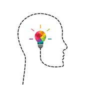Creative thinking and learning concept