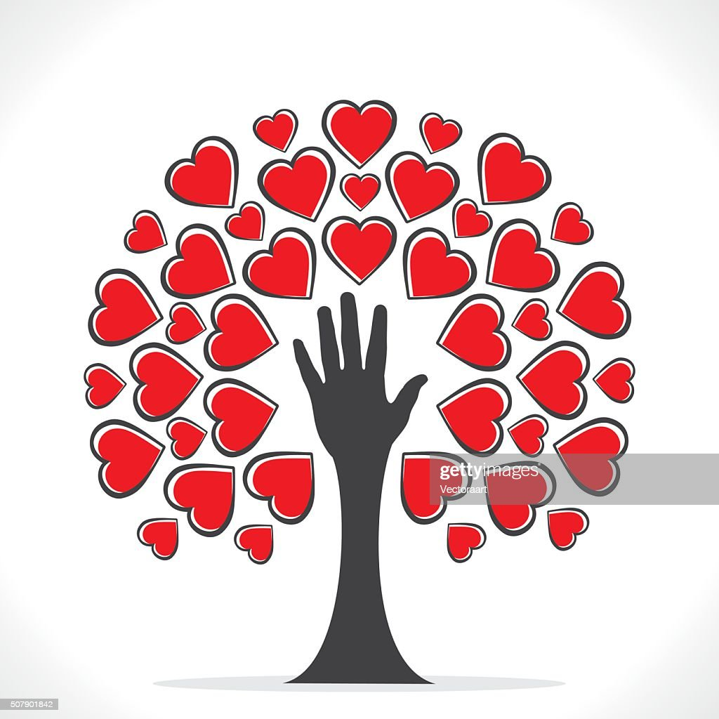 creative valentines tree design