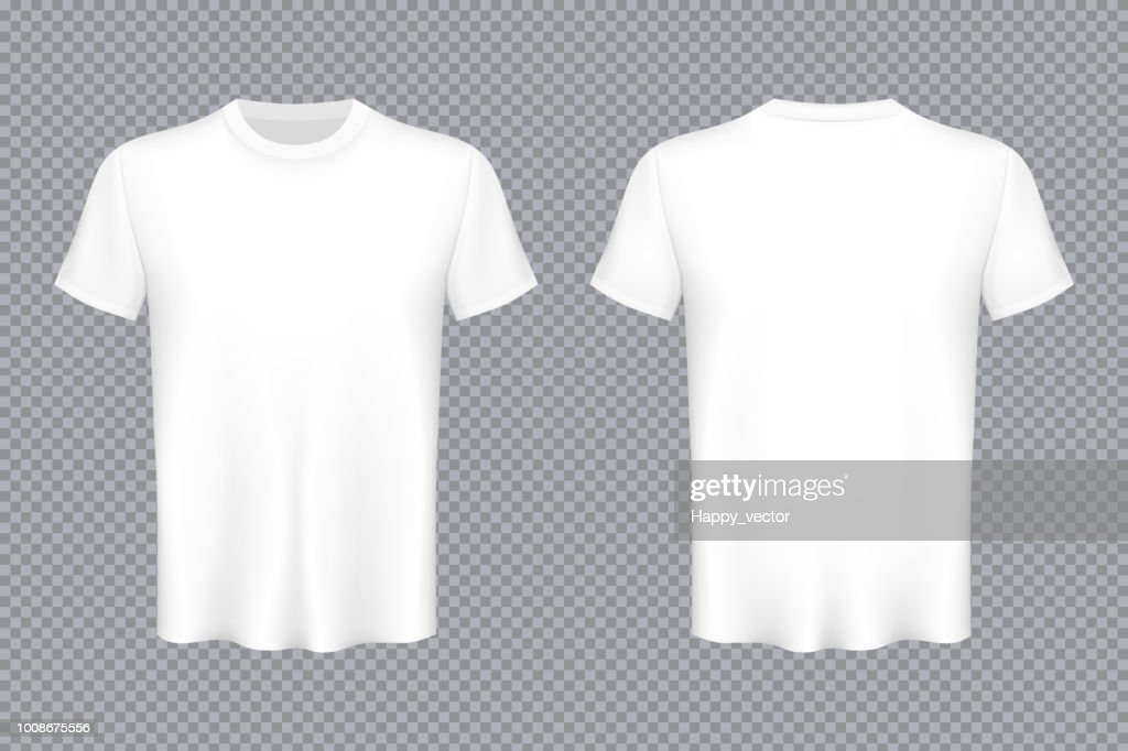 Creative vector illustration of colored T-shirts Set isolated on transparent background. Art design blank mockup advertising template. Abstract concept graphic top view printing element