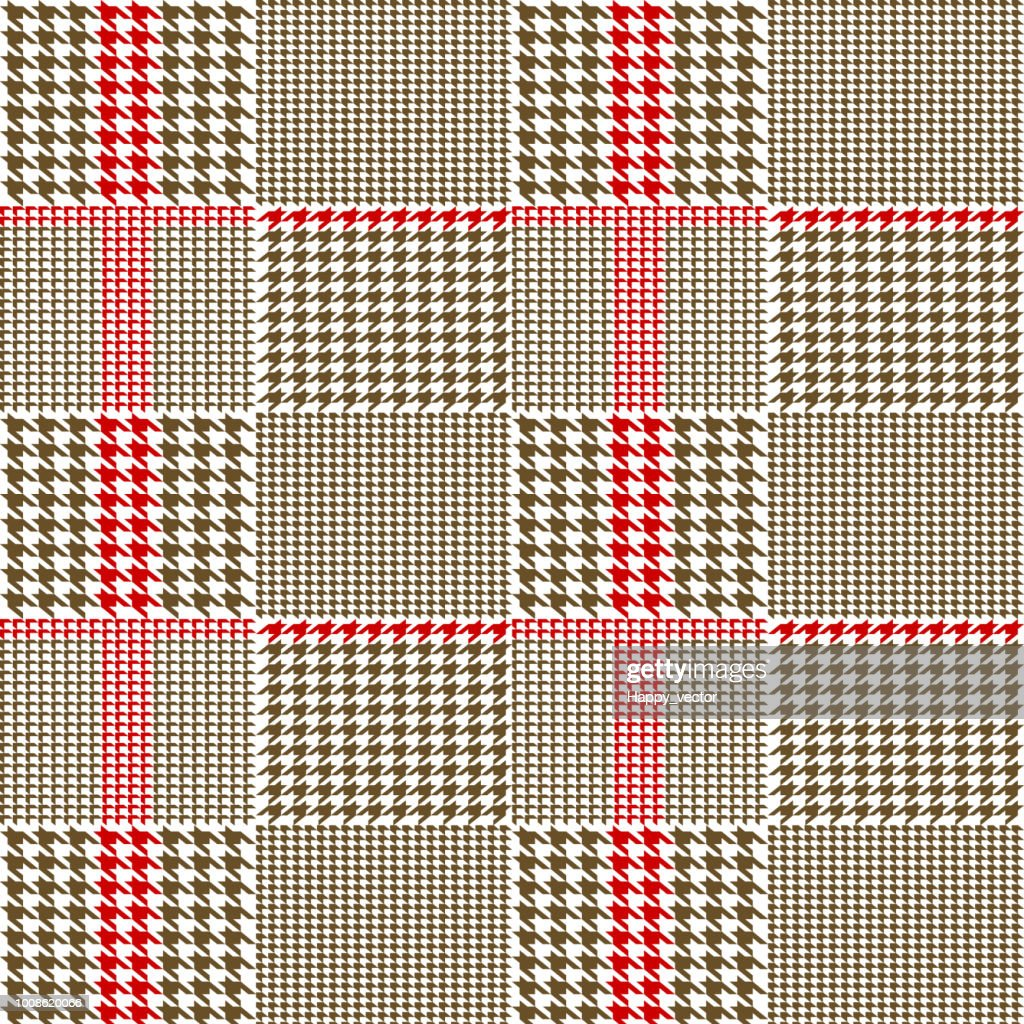 Creative vector illustration of fabric houndstooth seamless vector pattern background. Geometric print hounds tooth art design. Abstract concept english glen plaid graphic element for fashion