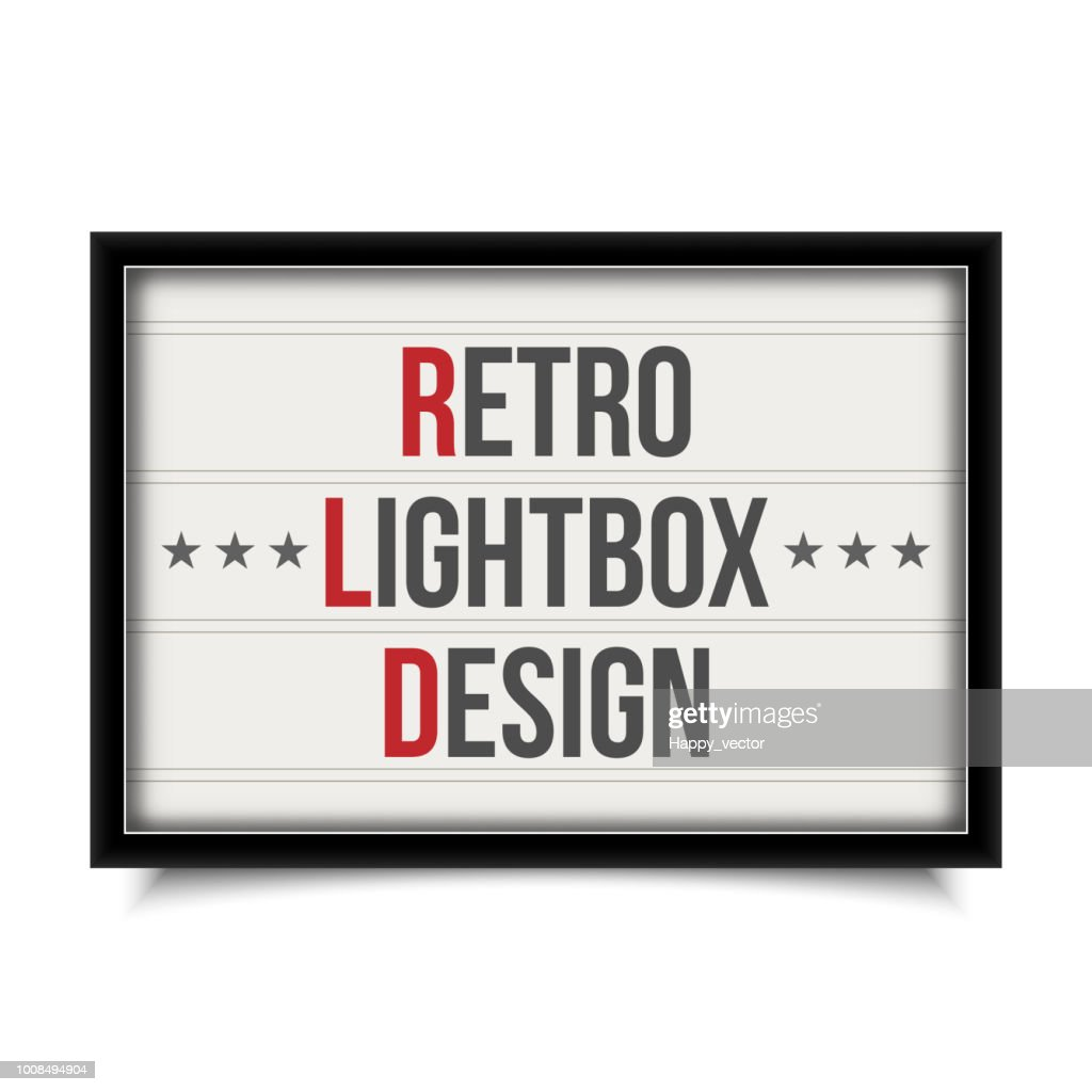 Creative vector illustration of glowing cinema signboard, retro lightbox isolated on transparent background. Art design light vintage billboard banner template. Abstract cinema, theatre element