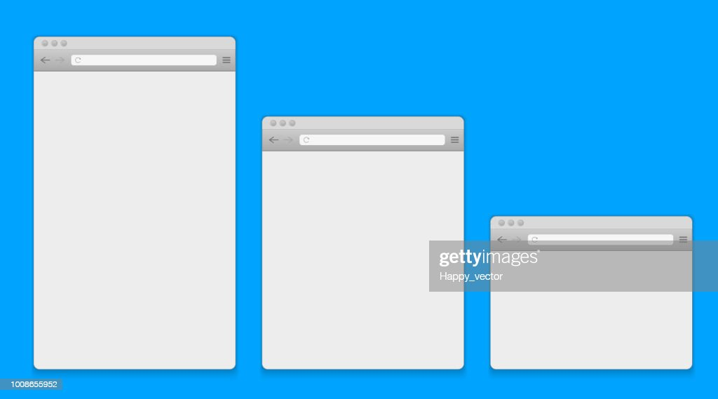 Creative vector illustration of open internet browser isolated on background. Art design window, frame search template. Abstract concept graphic blank web page element for pc, tablet and mobile phone