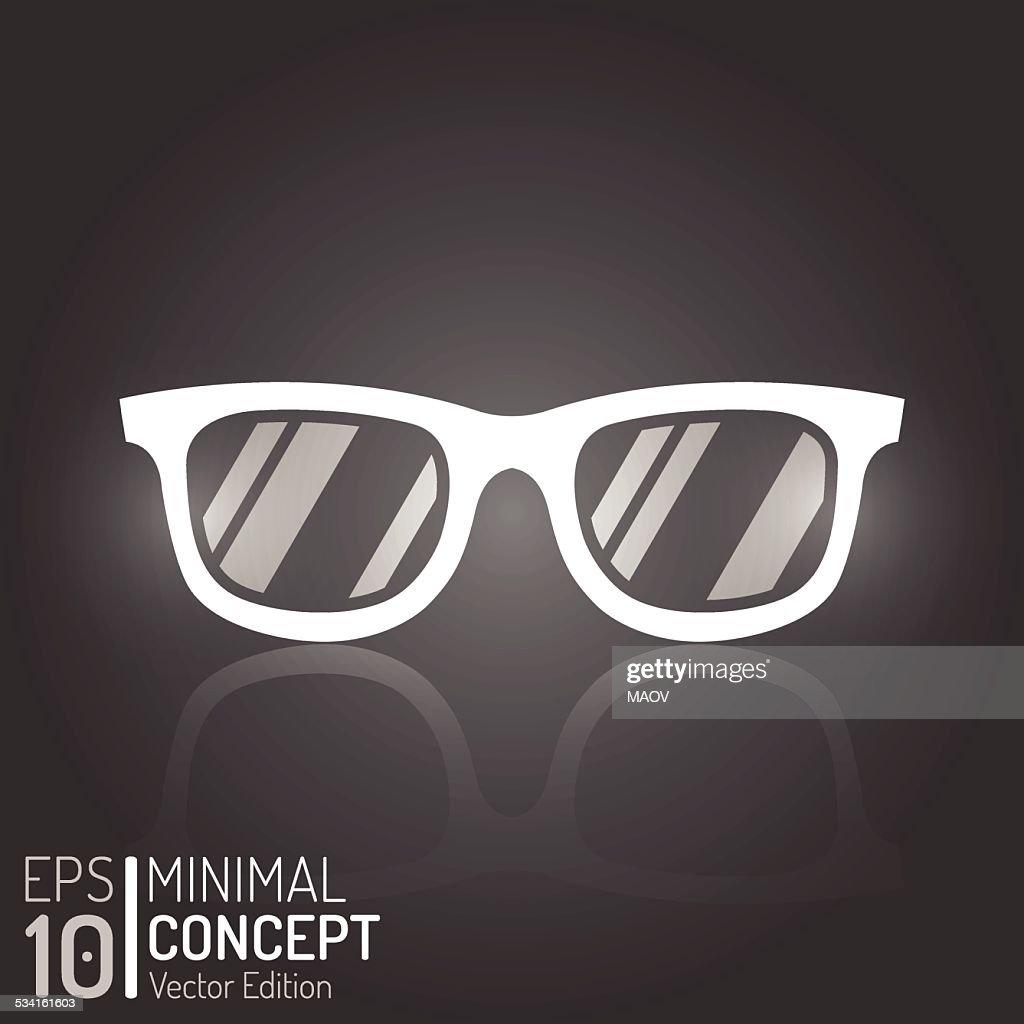 Creative Vintage Glasses Design. Vector Elements. Isolated Minimal Sunglasses Illustration