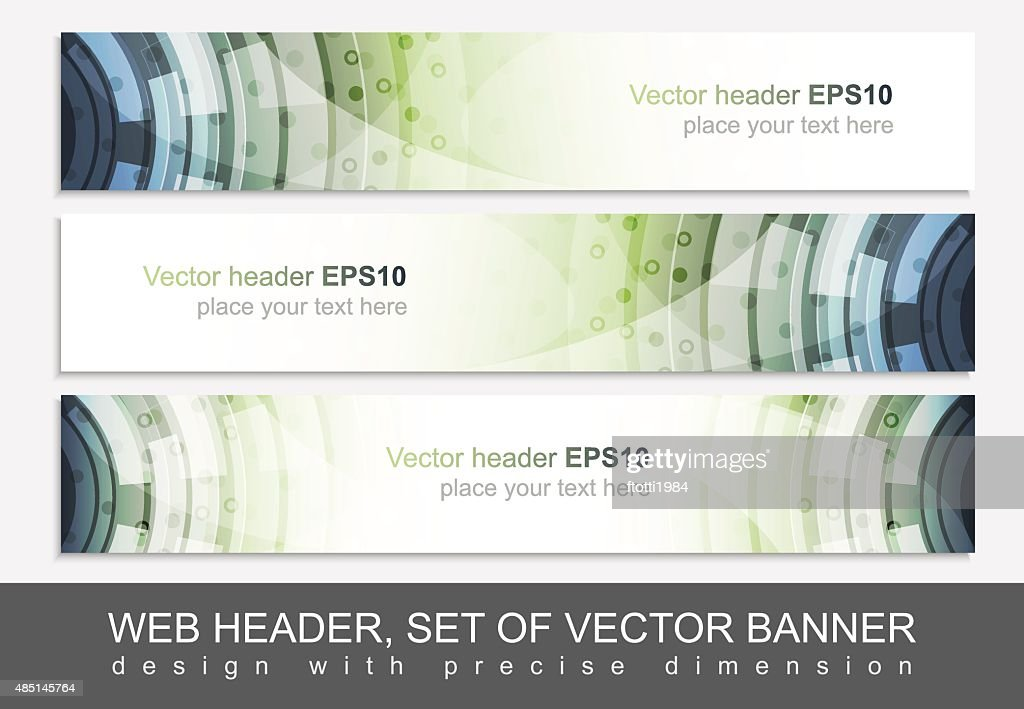 Creative web header or banner for your project