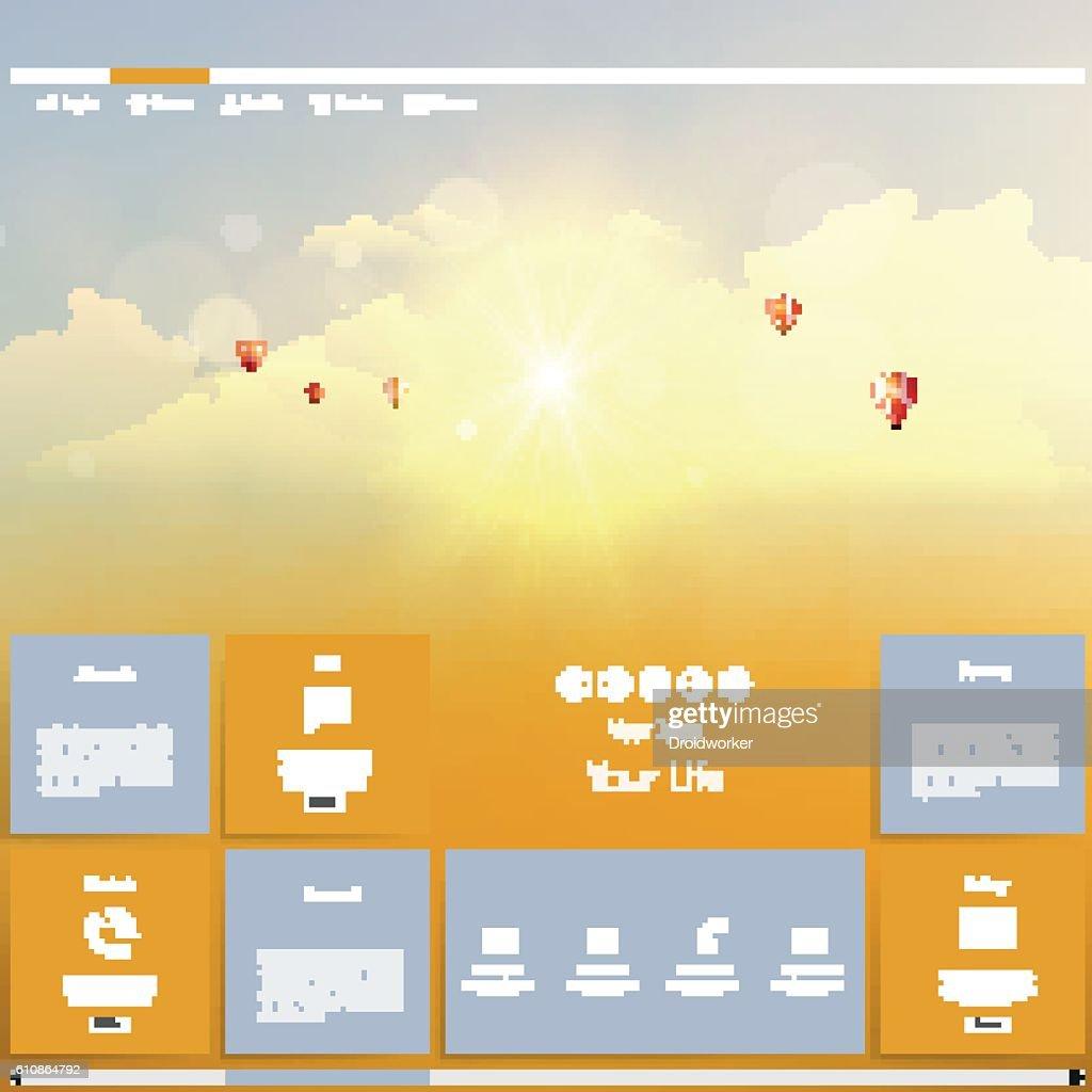Creative website design template.
