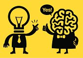 Creativity and Logic | Yellow Business Concept