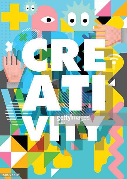 illustrations, cliparts, dessins animés et icônes de creativity design - créativité