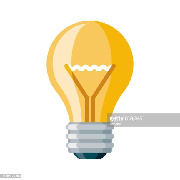 creativity icon on transparent background - light bulb stock illustrations