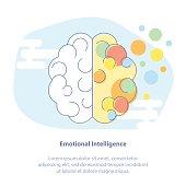 Creativity or Imagination, Brain Power. Left and right brain hemispheres - analytical and creative thinking