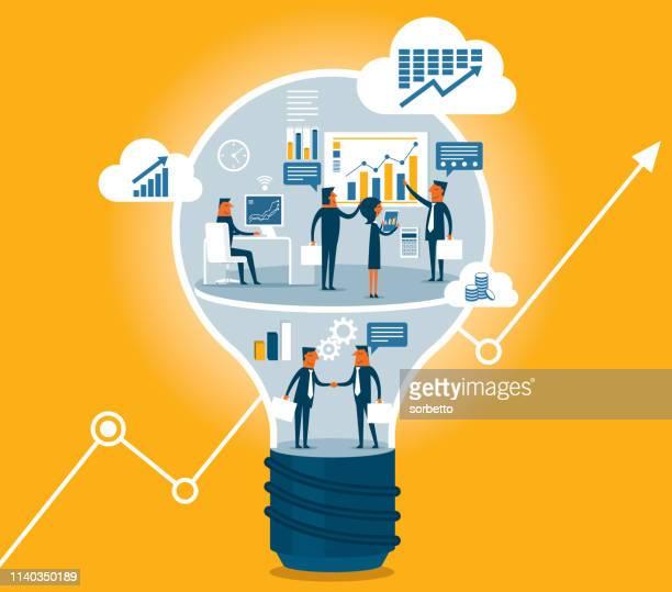 creativity - teamwork - accountancy stock illustrations
