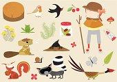 creatures in the woodlands