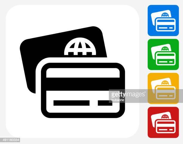 Les cartes de débit et de crédit à la conception graphique icône