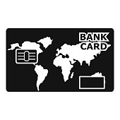 Credit bank icon, simple style