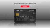 Credit card advertising vector illustration