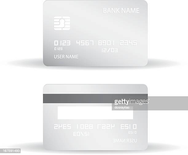 Credit card blank design templates