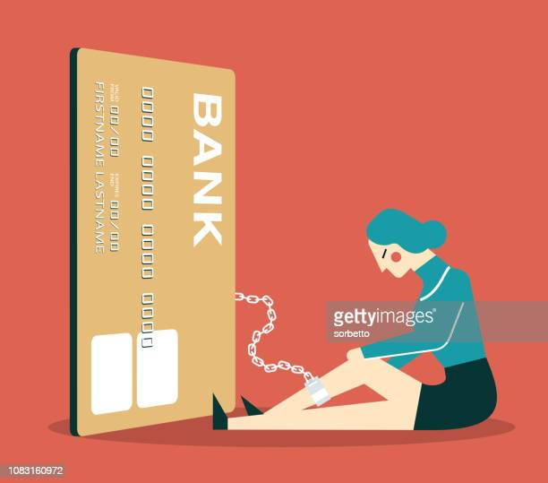 credit card - businesswoman - spending money stock illustrations, clip art, cartoons, & icons