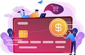 Credit card concept vector illustration