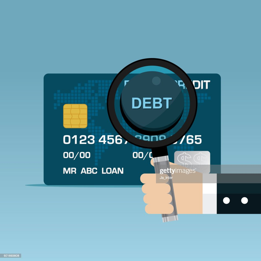 Credit card debt business vector art getty images credit card debt business vector art reheart Image collections