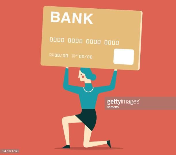 Credit Card Debt - Businesswoman