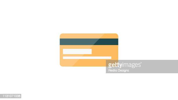 credit card flat icon - credit card stock illustrations